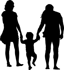 Family-With-Child-In-The-Middle-Silhouette